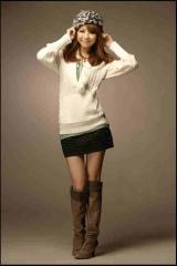 Biały Ciepły Sweterek z Kapturem