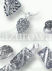 Biżuteria srebrna ażurowa