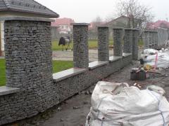 Ogrodzenia pełne, ażurowe, granit, łupek
