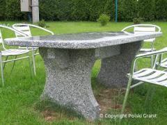 Ogrodowy stolik granitowy