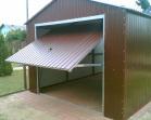 Garaże dwuspadowe drzwi uchylne