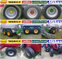 Koła do maszyn i urządzeń rolniczych.
