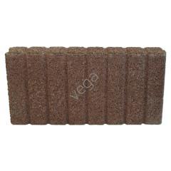 Obrzeże palisadowe, brązowy, wym.50x28x6cm