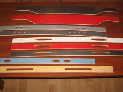 Furniture slats for beds