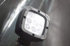 Car headlights and  warning lights
