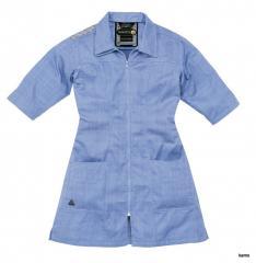 Bluza robocza damska z poliestru i bawełny, rękawy