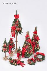 Choinki sztuczne dekorowane,wiank dekorowanei, rogale zielone i dekorowane, stożki, zabawki choinkowe noworoczne,dekoracje świąteczne , bożonarodzeniowe,dekorowane choinki, dekorowane wianki, dekorowane rogale