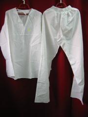 Ubranie bawełniane białe piekarnicze dł. rękaw
