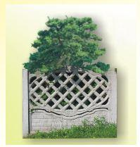 Dekoracyjne ogrodzenia betonowe. Wybór wzorów.