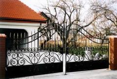 Gates made of metal