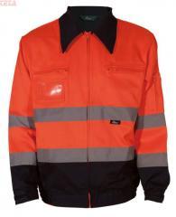 Bluza robocza ostrzegawcza VIZWELL VWTC06B