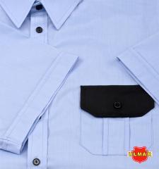 Koszula służbowa niebieska z krótkimi rękawami