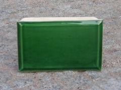 Kafel szkliwiony środkowy zielony