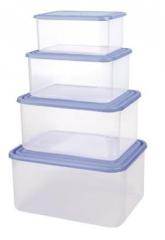 Zestaw prostokątnych pojemników do przechowywania żywności