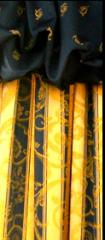Decorative fabrics with flame-resistant finishing