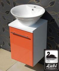 Szafka łazienkowa z okrągłą umywalką - seria