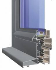 Okna, drzwi i przegrody z profili aluminiowych.