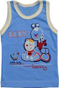 Koszulka na ramiączka baby bear nieb/biel roz.74