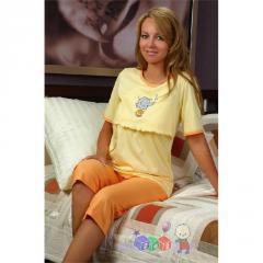 Bawełniana piżama dla mam karmiących rozmiar M