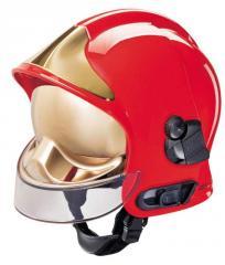 HełmGalet F1SF,czerwony z osłoną alu + nomex