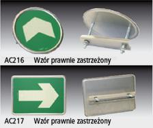Znaki ewakuacyjne systemu niskiego oświetlenia ze