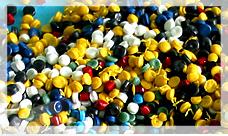 Polythene granulated