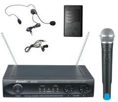 Trzy mikrofony bezprzewodowe Baomic BM-223
