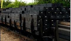 Podkłady i podrozjazdnice drewniane.