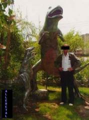 Dinozaury / jaszczury wykonane z laminatu