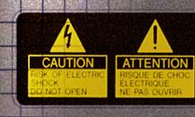 Etykiety samoprzylepne - etykiety ostrzegawcze