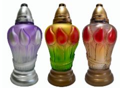 Znicze, lampiony i wkłady plastikowe i szklane.