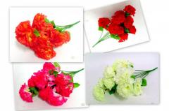 Kolorowe kwiaty sztuczne.