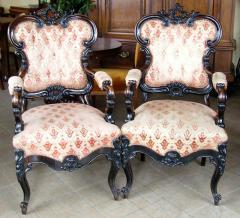 Para foteli neorokoko - palisander