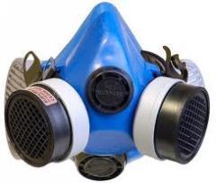 Maska BHP z pochłaniaczami
