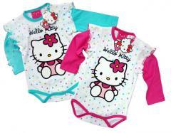 Hello Kitty śliczne body dla niemowląt z różowymi