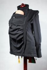 Kurtka do noszenia dzieci - Softshell - czarna - S