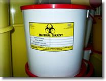 Pojemniki na odpady medyczne i niebezpieczne o
