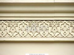 Ornamental elements, modeling made of gypsum,