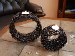 Komplet 2 świeczników