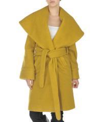 Musztardowy płaszcz Dots