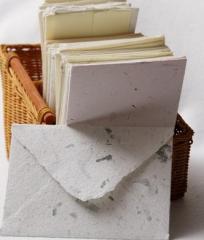 Koperty z ręcznie wyczerpanego papieru