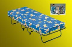 Łóżko składane Como -na kółkach gruby materac