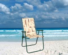 Krzesło składane Relax z wysokim oparciem, z 2cm
