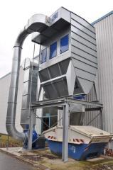 Instalacja odpylania z powrotem ciepłego powietrza