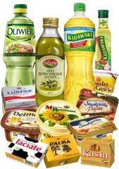 Margaryny, masła, tłuszcze roślinne i zwierzęce