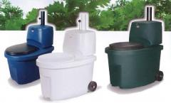 Sucha toaleta Biolan biała, niebieska lub zielona