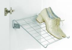 Półka na buty 15.08.S mocowana do ściany w kolorze Srebrnym