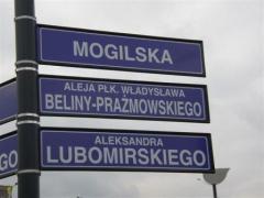 Tablice z nazwami ulic