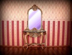 Wspaniała konsola z lustrem w stylu barokowym z
