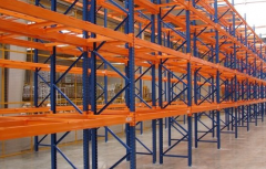 Row pallet racks, racks,